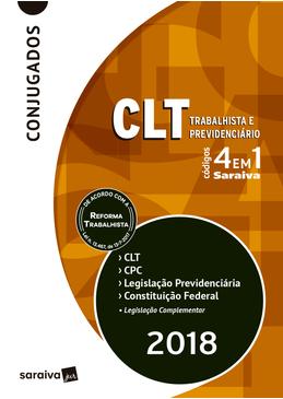 Codigos-4-em-1-Saraiva---CLT---Trabalhista-e-Previdenciario---Conjugados