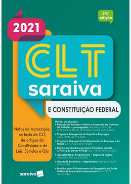 CLT-Saraiva-e-Constituicao-Federal---Tradicional---54--Edicao-2021