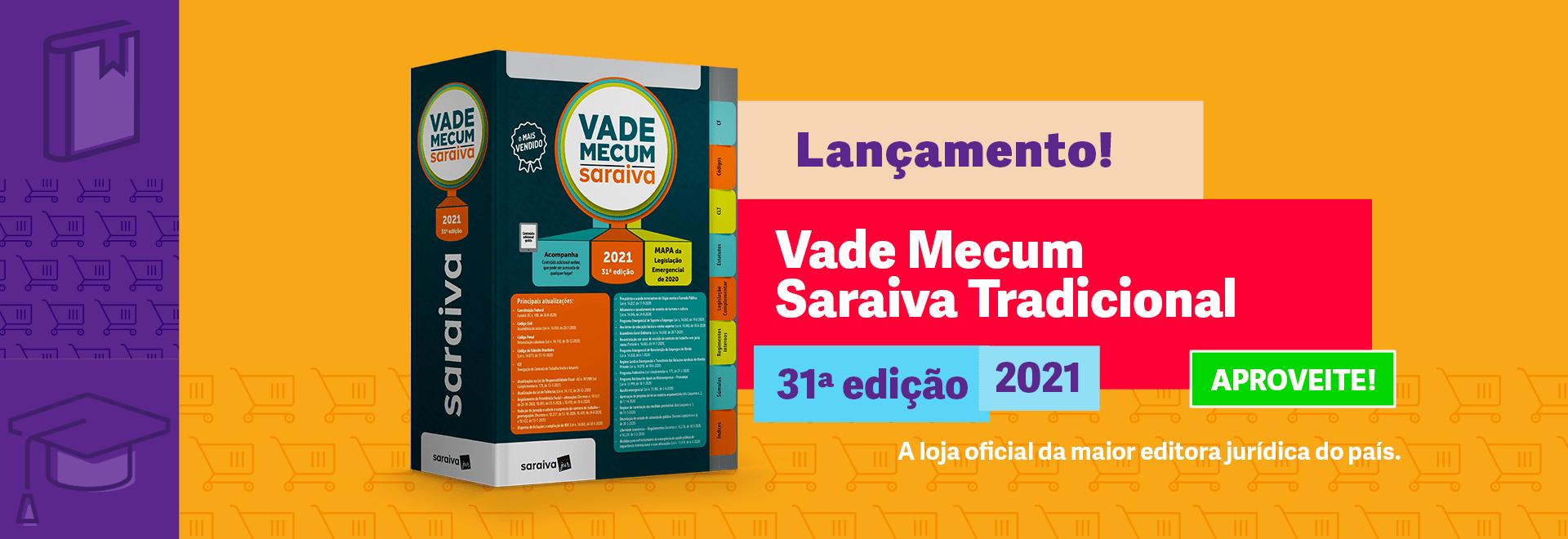Vade Mecum Saraiva Tradicional - 31ª Edição 2021